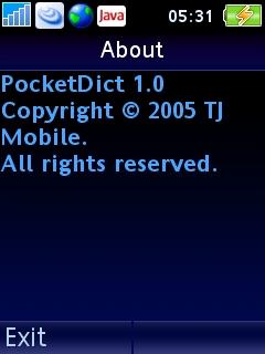 """tentang"" Pocket Dict"